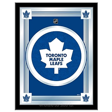 Holland Bar Stool NHL Logo Mirror Framed Graphic Art; Toronto Maple Leafs