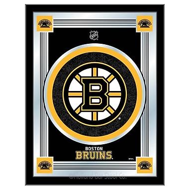 Holland Bar Stool NHL Logo Mirror Framed Graphic Art; Boston Bruins