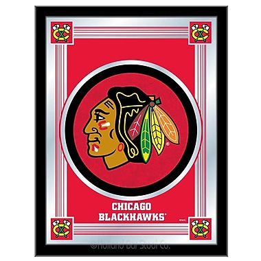 Holland Bar Stool NHL Logo Mirror Framed Graphic Art; Chicago Blackhawks