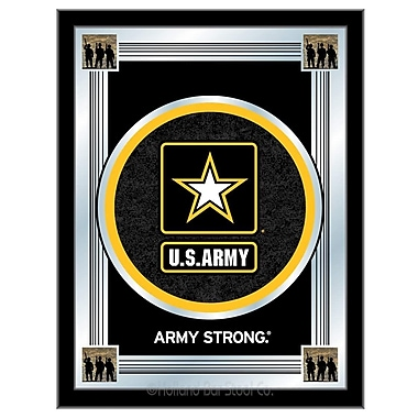 Holland Bar Stool US Armed Forces Logo Mirror Framed Graphic Art; Army