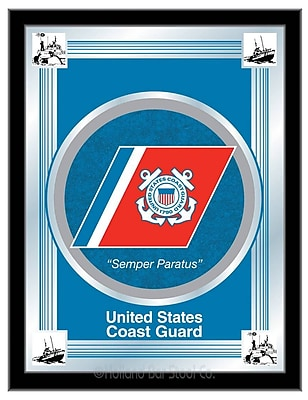 Holland Bar Stool US Armed Forces Logo Mirror Framed Graphic Art; Coast Guard