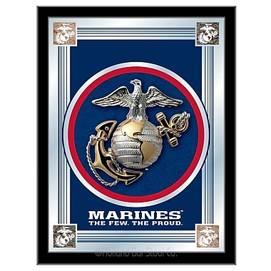 Holland Bar Stool US Armed Forces Logo Mirror Framed Graphic Art; Marines