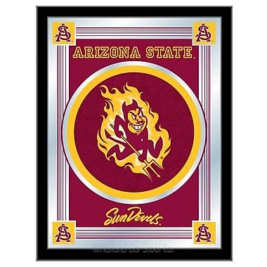 Holland Bar Stool NCAA Logo Mirror Framed Graphic Art; Arizona State