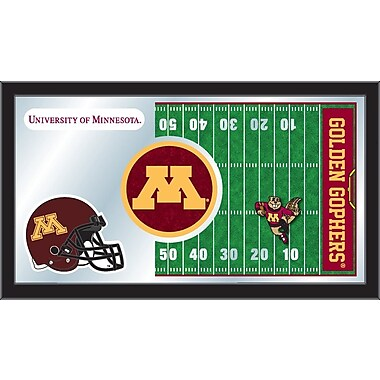 Holland Bar Stool NCAA Football Mirror Framed Graphic Art; Minnesota