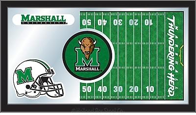 Holland Bar Stool NCAA Football Mirror Framed Graphic Art; Marshall
