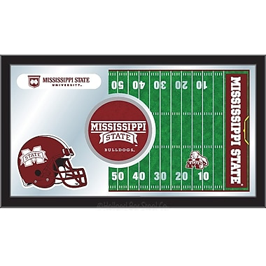 Holland Bar Stool NCAA Football Mirror Framed Graphic Art; Mississippi State