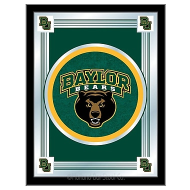 Holland Bar Stool NCAA Logo Mirror Framed Graphic Art; Baylor