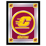 Holland Bar Stool NCAA  Logo Mirror Framed Graphic Art; Central Michigan