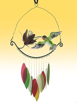 Blue Handworks Hummingbird Wind Chime