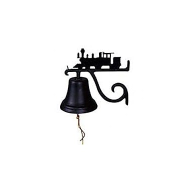 Montague Metal Products Cast Train Bell; Black