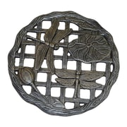 Oakland Living Steppers Dragonfly Stepping Stone; Antique Pewter