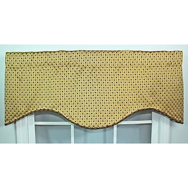 RLF Home Rod Pocket Scalloped 50'' Curtain Valance