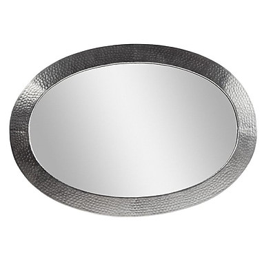 The Copper Factory Oval Mirror; Satin Nickel