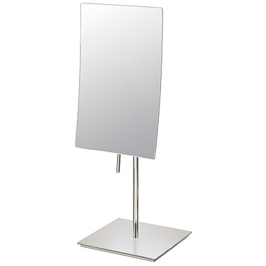 Mirror Image Mirror Image Minimalist Rectangular Vanity Mirror; Brushed Nickel