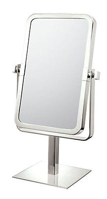Mirror Image Mirror Image Rectangular Vanity Mirror; Brushed Nickel
