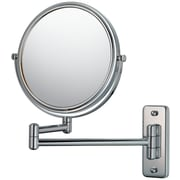 Chrome Wall Mirror mirror image mirror image double arm wall mirror; chrome | staples®