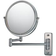 Mirror Image Mirror Image Double Arm Wall Mirror; Chrome