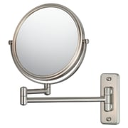 Mirror Image Mirror Image Double Arm Wall Mirror; Brushed Nickel