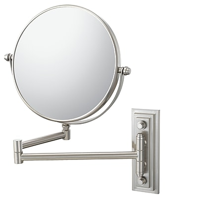 Mirror Image Mirror Image Classic Double Arm Wall Mirror; Brushed Nickel