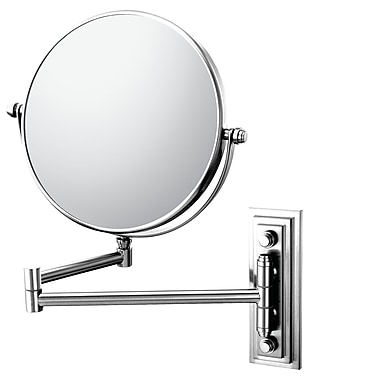 Mirror Image Mirror Image Classic Double Arm Wall Mirror; Chrome