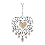 ORE Furniture Metal Heart Windchime