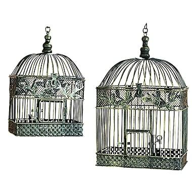 ORE Furniture 2 Piece Metal Bird Cage Set