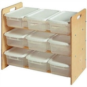 Little Colorado Nine Bin Toy Organizer Double Sided 9 Compartment Cubby; Natural Lacquer