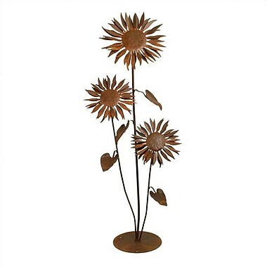 Patina Products Sunflower Garden Statue; Large