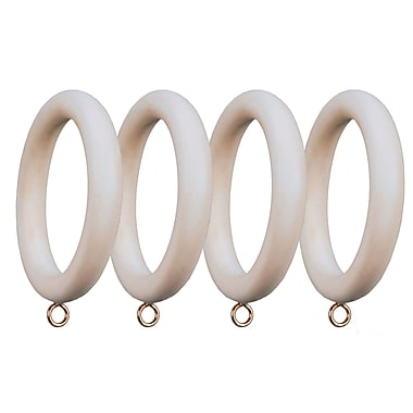 Menagerie Compatible Smooth Drapery Curtain Ring (Set of 4); Antique silver