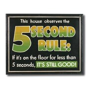 RAM Game Room ''5 Seconds Rule'' Outdoor Sign