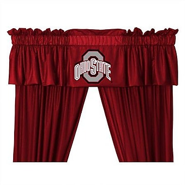 Sports Coverage NCAA 88'' Ohio State Buckeyes Curtain Valance