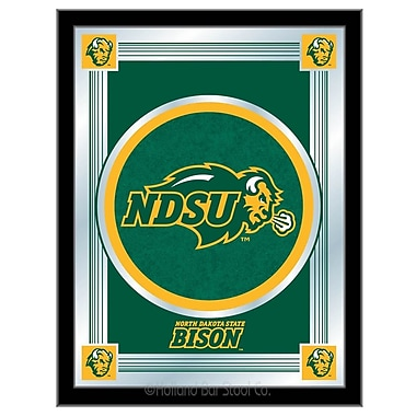 Holland Bar Stool NCAA Logo Mirror Framed Graphic Art; North Dakota State