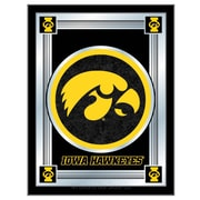 Holland Bar Stool NCAA  Logo Mirror Framed Graphic Art; Iowa