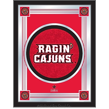 Holland Bar Stool NCAA Logo Mirror Framed Graphic Art; Louisiana-Lafayette