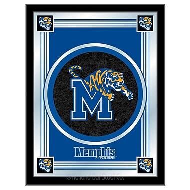 Holland Bar Stool NCAA Logo Mirror Framed Graphic Art; Memphis
