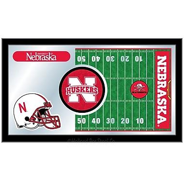 Holland Bar Stool NCAA Football Mirror Framed Graphic Art; Nebraska