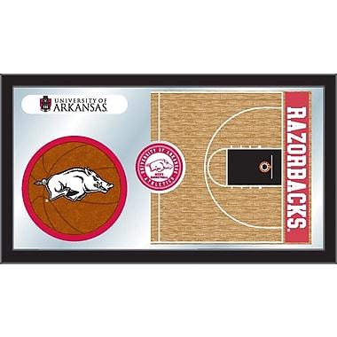 Holland Bar Stool NCAA Basketball Mirror Framed Graphic Art; Arkansas