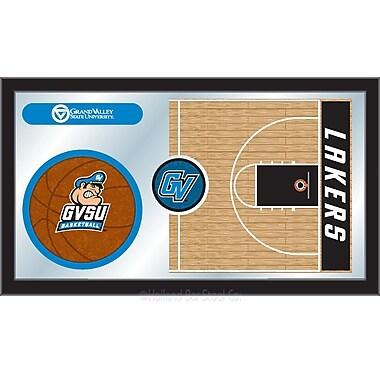 Holland Bar Stool NCAA Basketball Mirror Framed Graphic Art; Grand Valley State