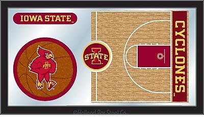 Holland Bar Stool NCAA Basketball Mirror Framed Graphic Art; Iowa State
