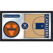 Holland Bar Stool NCAA Basketball Mirror Framed Graphic Art; Virginia