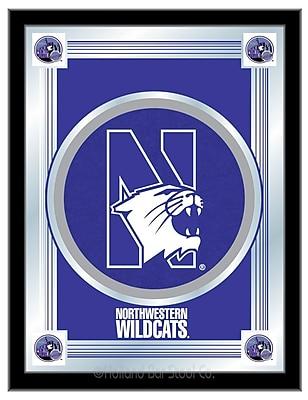 Holland Bar Stool NCAA Logo Mirror Framed Graphic Art; Northwestern