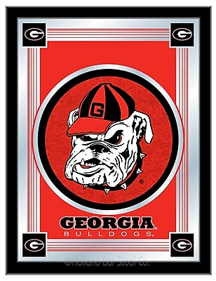 Holland Bar Stool NCAA Logo Mirror Framed Graphic Art; Georgia ''Bulldog''