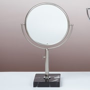 Bissonnet Kosmetic Astoria Makeup Mirror; Brushed Nickel