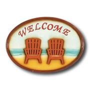 RAM Game Room Welcome Chairs Garden Plaque