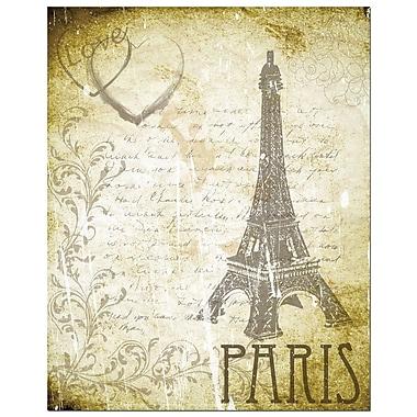 Secretly Designed Love Paris by Secretly Spoiled Graphic Art; 5'' H x 7'' W