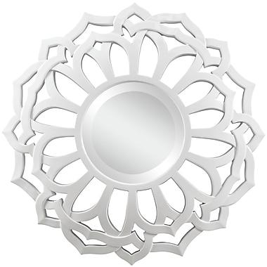 Cooper Classics Martin Wall Mirror; Glossy White