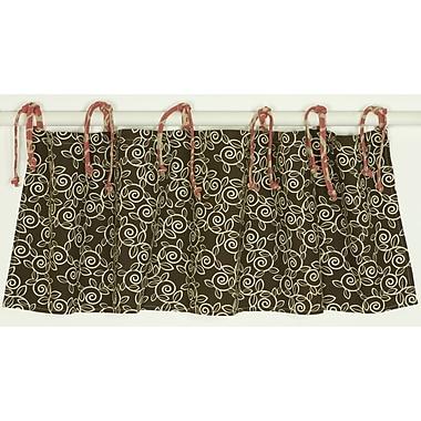 Cotton Tale Raspberry Dot Straight 55'' Curtain Valance