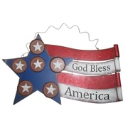Alpine American Flag Metal Wall D cor