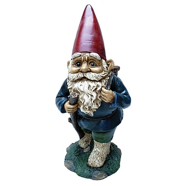 Michael Carr Garrold Gnome Carrying Basket Statue
