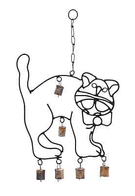 Woodland Imports Cute Cat Wind Chime